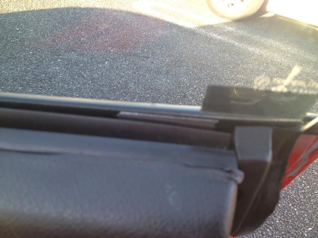 窓下部へのアルミテープチューン